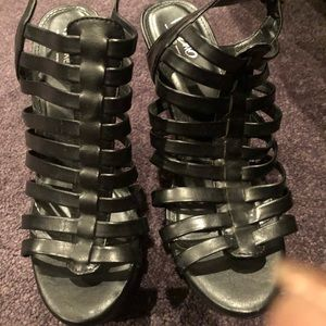 Missimo Platform Cage Gladiators wedges Sz 8